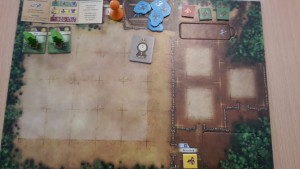 Spieler-Tableau zu Beginn des Spiels